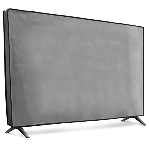 "kwmobile Funda Compatible con Monitor 55"" TV - Cubierta Protectora Textil para Pantalla - Gris Claro"