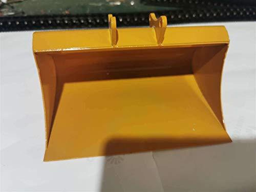 HONG YI-HAT Großer Vollmetallschaufel-Eimer Geeignet für Huina 580 23 Kanalbagger 1/14 RC Metallbagger Spading Teile Reserveonderdelen