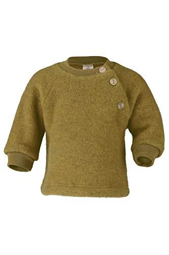 Engel Baby Pulli Fleece, Schurwolle, Natur, Gr. 50/56-86/92, 3 Farben (50/56, Safran Melange)