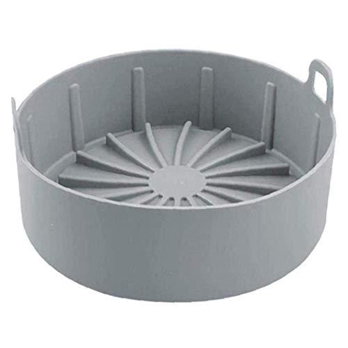 Freidora de aire Pote de silicona Aire Fryer Cesta de reemplazo para forros de papel Aire Fryer Accesorio L Gris WTZ012 (Color : Grey)