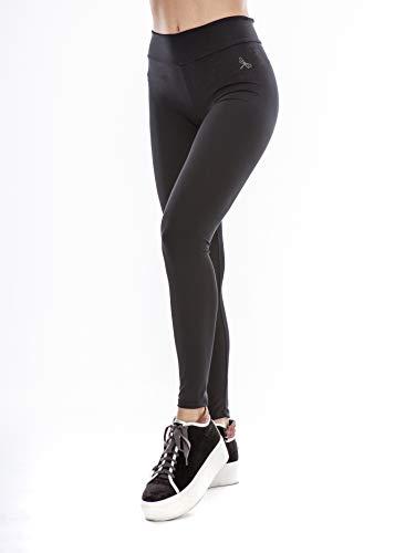Lindissims Legging Eco-Sostenible Anax Smooth Negro Mallas Deporte, Pantalones Deportivos, Cintura Alta, Yoga, Running, Fitness…