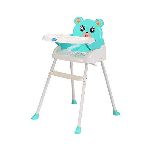WUPYI2018 Baby Kinderhochstuhl, Klappbar Babyhochstuhl mit Tablett, Höhenverstellbar (Grün)
