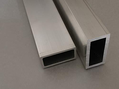 Aluminium Rechteckrohr Aluprofil Hohlrohr Kantrohr alu profil viele Größen Länge 200cm (20mm * 10mm *1,5mm)