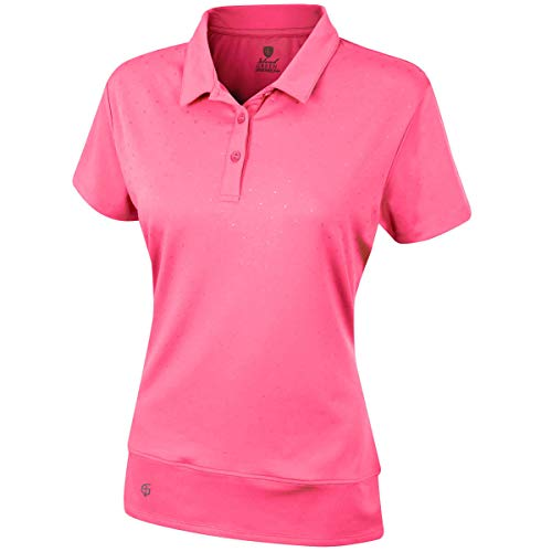 Island Green Iglts1796 Damen-Golf-Poloshirt, Damen, IGLTS1796_PINKJ_12, Rosa Jolt, 38