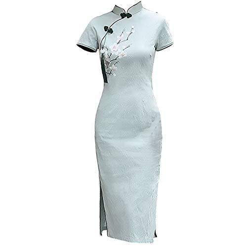 Vestido de noche chino Cheongsam Cheongsam - algodón y ropa de algodón...