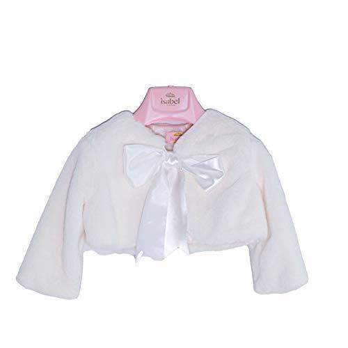 ISABEL Bolero de piel sintética elegante con lazo para niña blanco 6435 Bianco 4 años