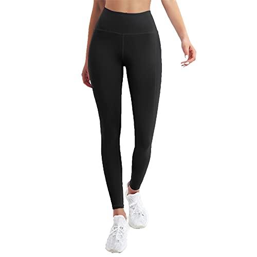 Leggins Mujer Fitness Mallas Gimnasio Pilates, Pantalitas de gimnasio de control de la cordillera de la cintura alta de las mujeres Levantamiento de la culata Straight Pantalones de yoga Pantalones de