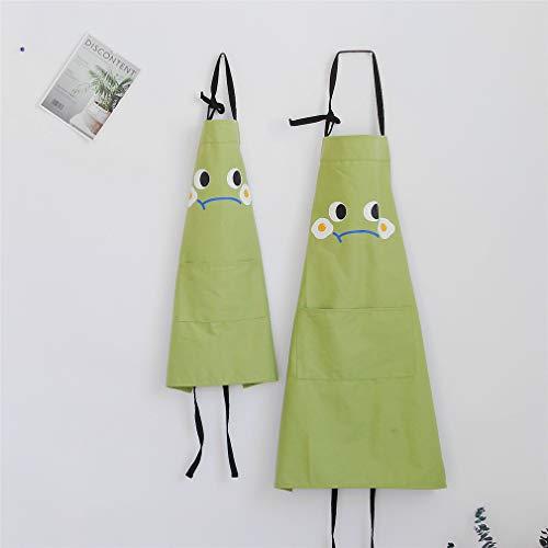 Lindong Tablier de cuisine avec poche pour adultes et enfants en coton imperméable