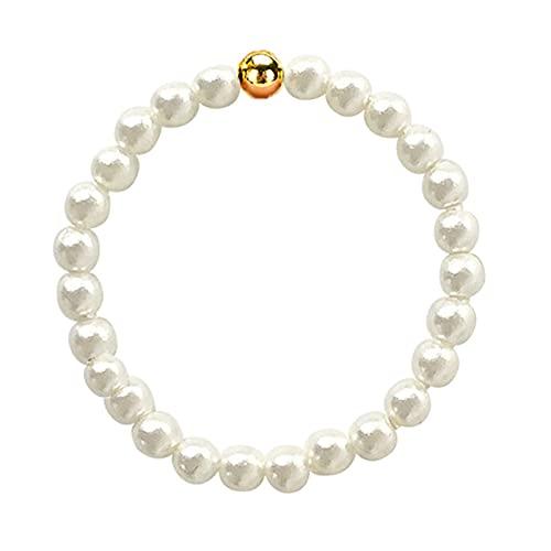 Anillos de perlas de concha natural para mujer, anillos ajustables con cuentas de oro, anillos de boda para parejas, anillo de acero inoxidable al por mayor