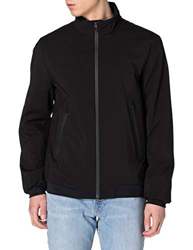 Geox Mens M Nebula Bomber-Polyester SO Jacket, Black, 54