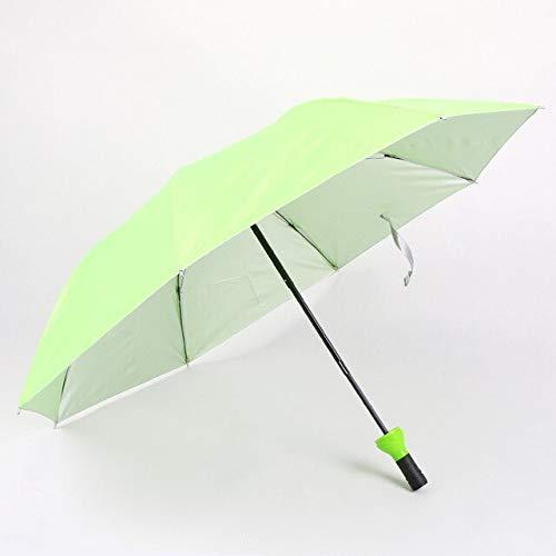 Nuevo paraguas creativo de la botella de vino de las mujeres 3 plegable Sun-rain UV mini paraguas para las mujeres regalos lluvia engranaje paraguas - verde, a1