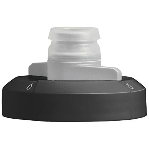 Camelbak Podium Replacement Bottle Cap - Black/Spare Non Leak Top Spill Lid Eddy Chute Sport Dirt Big Chill Ice Peak Fitness Water Bidon Flask Biking Bike Cycling Cycle Gym Vessel Spare Accessories