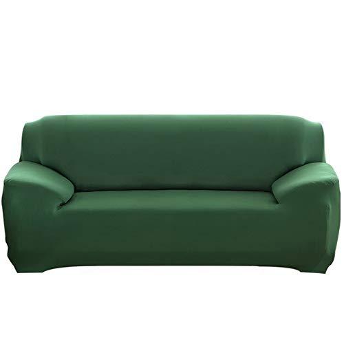 Cubierta de sofá duradera y fácil de limpiar Cubierta del sofá, 1/2/3/4 plazas de color sólido de espesar de color sólido Cubierta de sofá elástica Universal Sección Sección Stretch Funda para la sala