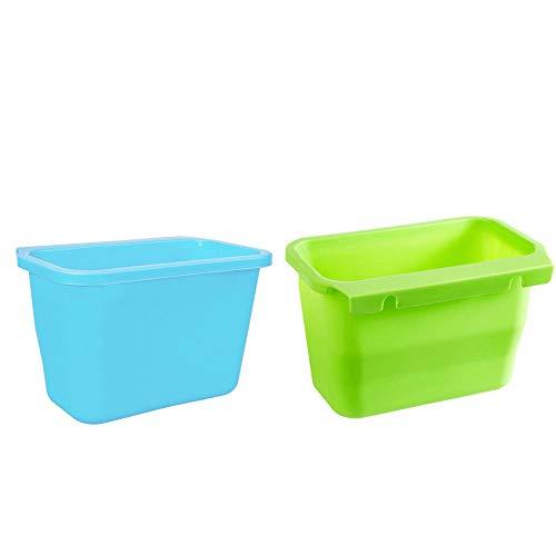 2PC Mülleimer Gruppen Von Kreativen Hängenden Einfachen Mülleimern Kreative Küche Müllbox Schranktüren hängen Mülleimer Peeling Storage Box Trash Can