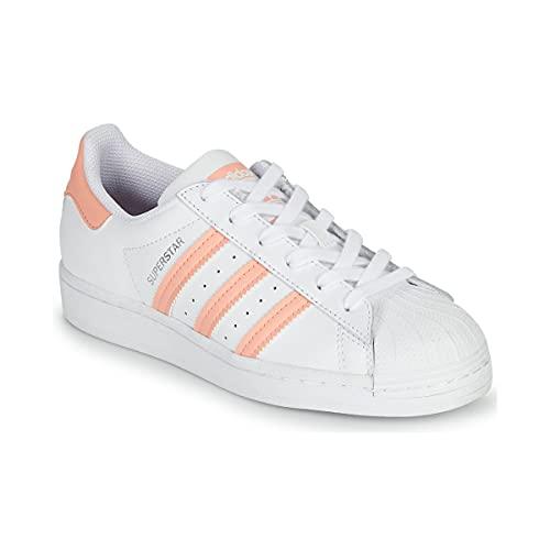adidas Superstar J, Zapatillas Deportivas, FTWR White Haze Coral FTWR White, 37 1/3 EU