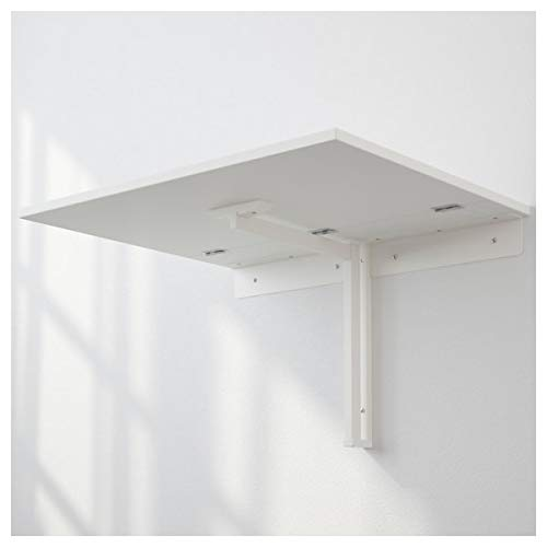 NORBERG Wall-mounted drop-leaf table, white, 74x60 cm, durable and easy to care for. Wall-mounted tables. Dining tables. Tables & desks. Furniture. Environment friendly.