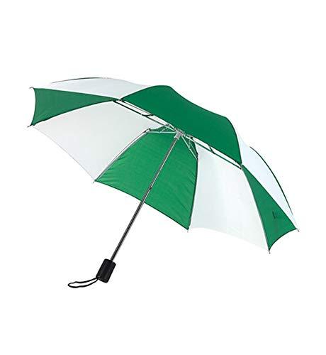 Regenschirm Taschenschirm in grün/weiß