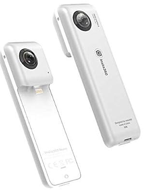 Insta360 Nano S 360 VR Camera 4K HD 360 Degree Video 20MP Photos Compatible with iPhone 11, 11 Pro, XS, XS Max, XR, X, 8/8 Plus, 7/7 Plus, 6S/6S Plus, 6/6 Plus