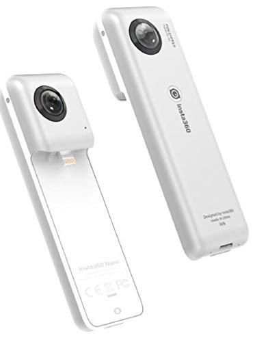 Insta360 Nano S - Kompakte 3D VR-Kamera, 4K HD 360 °, 20 Megapixel-Foto, kompatibel mit iPhone X / 8/7/6-Serie, integrierte Stabilisierung, integriertes Mikrofon, mit Lightning-Verbindung