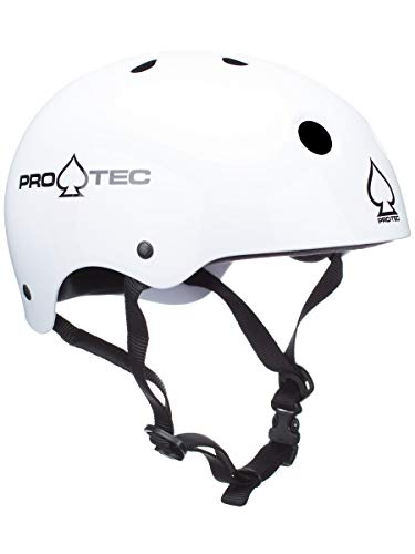 Pro-Tec Classic Skate-Helm, Herren Damen Kinder, 121230204, Gloss White, M