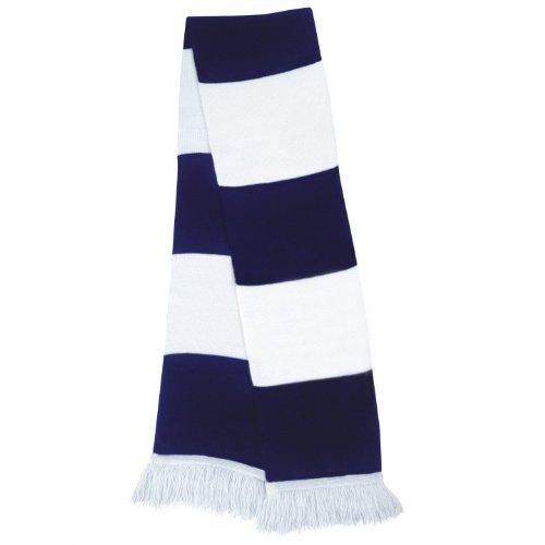 Result - Echarpe épaisse thermique tricotée - Homme (Taille unique) (Blanc/Bleu marine)