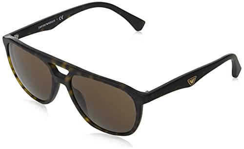 Emporio Armani Sonnenbrille EA4156 500273 Man Sonnenbrille Farbe Havanna braun Linsengröße 58 mm