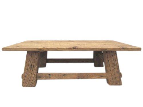 Luxury-Park China Coloniale tempo classico rustico tavolo in legno di pino massiccio scuro