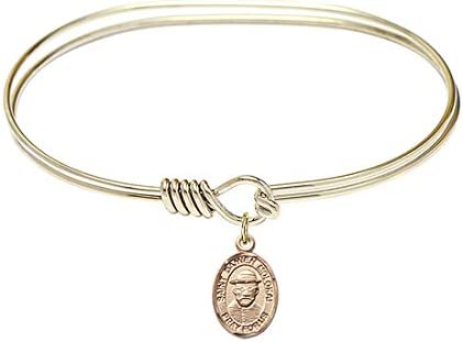 7 inch Oval Eye At the price of surprise Hook Bangle Bracelet with Tulsa Mall St. Damien Moloka a
