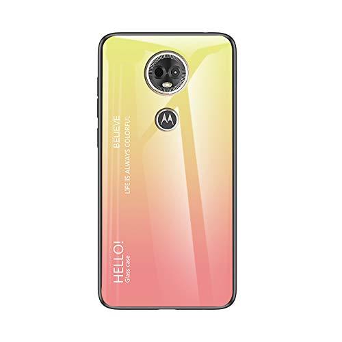 Custodia® Farbverlauf Anti-Kratzer Glas Hülle Kompatibel für Motorola Moto E5 Plus (7)