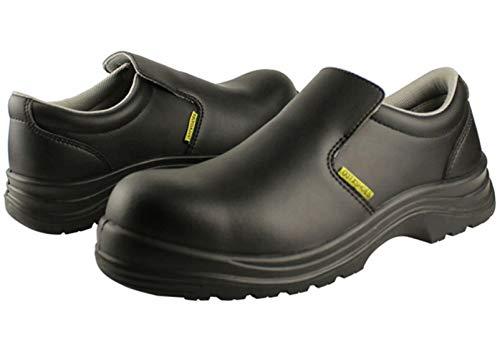 DDTX Zapatos de Seguridad Unisex SB Punta compuesta SRC Antiresbalones Antiestático Zapatos de Cocina S2 Negro 40EU