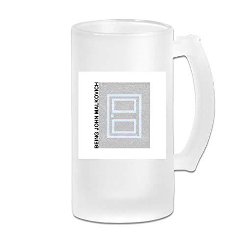 Gedruckte 16oz Milchglasbiener Stein Mug Cup - Als John Malkovich Film Drehbuch Silhouette - Grafikbecher