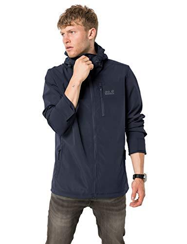 Jack Wolfskin Herren Desert Wind Jacket M Winddichte Softshelljacke, Night Blue, XL