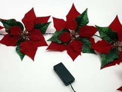 lowest Poinsettia high quality Garland new arrival - Battery outlet sale