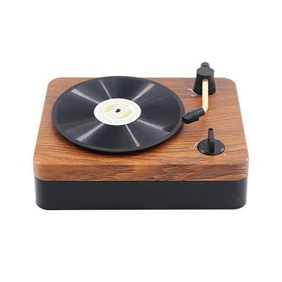 Retro Bluetooth Speaker New Mini Portable Creative Vinyl Record Phonograph Mini Speaker