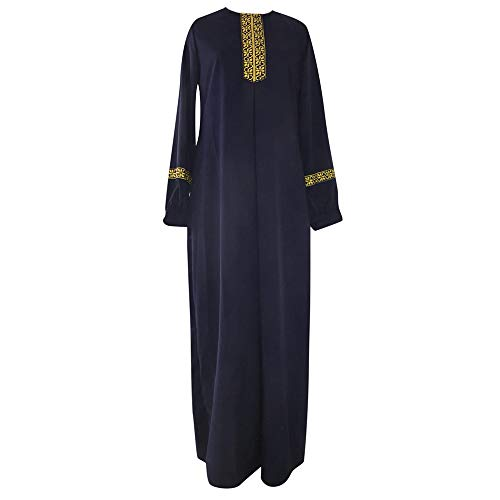 iHENGH Robe,Femmes Mode Robe Grande Taille Musulmane Abaya Jilbab à Manches Longues DéContractéE Caftan Dress