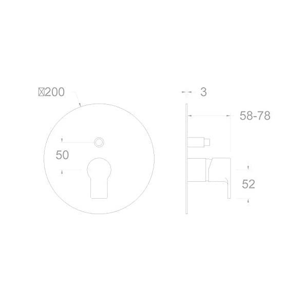 Ramon Soler RS-Q – Grifo monomando para bañera y ducha (sin instalación)