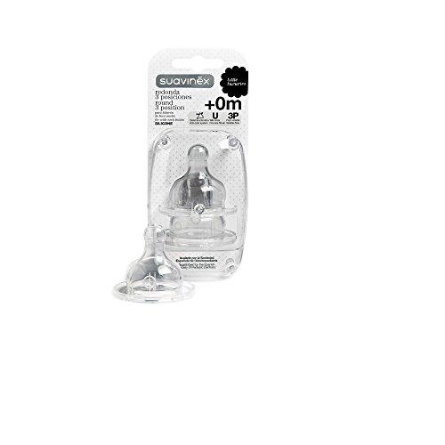 Suavinex tetina silicona boca ancha 3 Posiciones 2uds