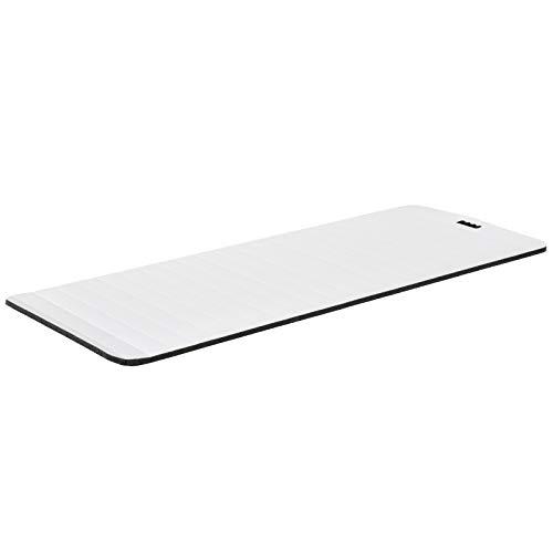 HOMCOM Yogamatte, rutschfeste Sportmatte, Gymnastikmatte mit Tragegurt, Weiß, 183 x 75 x 1,8 cm
