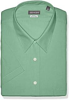 Van Heusen Men's BIG FIT Short Sleeve Dress Shirts Poplin Solid (Big and Tall)