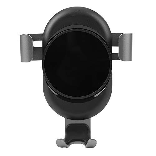 Fydun Supporto universale per telefono 360 gradi 2 in 1 Installazione di ventilazione e cruscotto Contrazione di gravità in lega di alluminio Supporto mobile Auto (grigio)