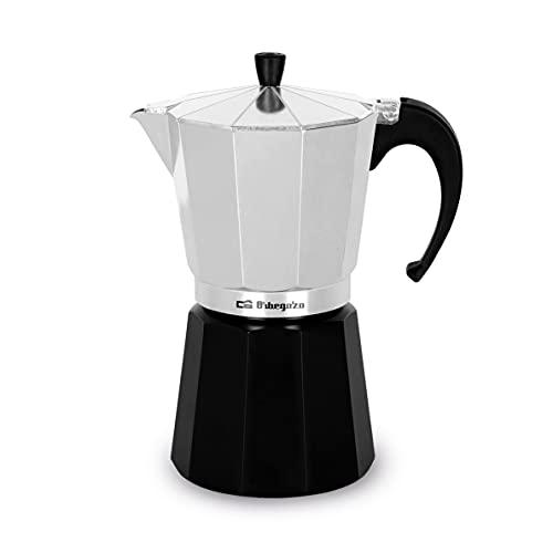 Orbegozo KFM 330 – Cafetera italiana de aluminio, 3 tazas de capacidad, negro y silver