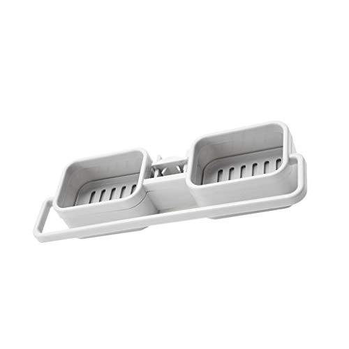 Hotaluyt Einstellbare Wasserhahn Abwasser Regal Spülbeckens Hängen Storage Rack Badezimmer-Seifen Rag Sponge-Speicher-Organisator