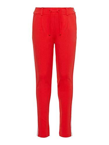 NAME IT Mädchen Nkflornelia Ida Normal Pant Noos Hose, Poppy Red, (Herstellergröße:92)