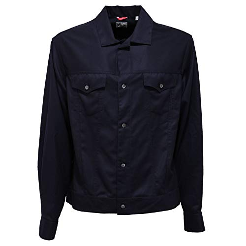 BAGUTTA 8865AB Giacca Camicia Light Wool Blue Shacket Men [L]