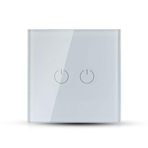 V-TAC VT-5112 - Interruptor táctil empotrable (2 botones, 2 vías, sku 8357)