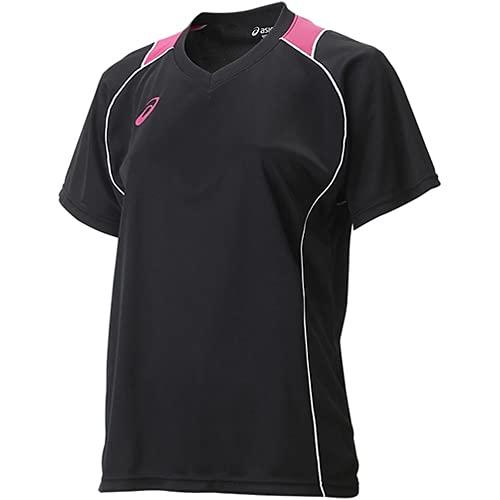 [アシックス] バレーボール シャツ 半袖プラクティスシャツ XW6418 [レディース] ブラック/ホワイト 日本 M (日本サイズM相当)