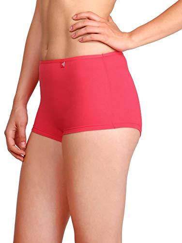 Jockey Women's Boy Leg short (SS04_Ruby_Large)