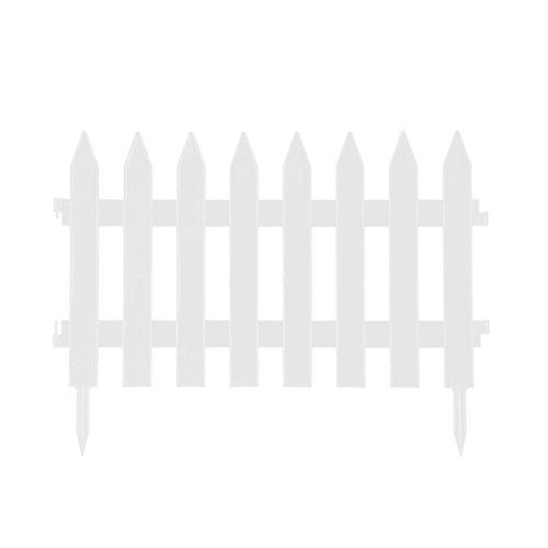 Clôture de jardin en plastique - 27 cm de haut - 2 tailles et 2 couleurs - Blanc
