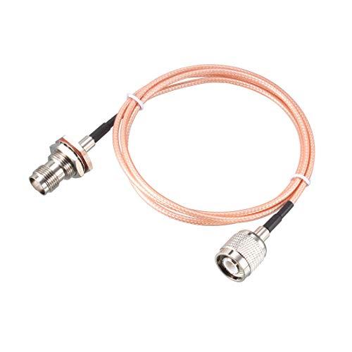 Sourcing Map RG316 RF Koaxialkabel TNC Stecker auf TNC Buchse Bulkhead Pigtail Jumper Kabel
