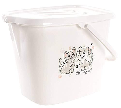 LUPPEE Eimer für Wasser und Windeln 22L mit Deckel und Tragegriff, Hund und Katze